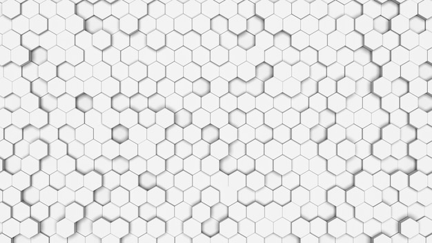 Textura de célula hexagonal branca. favo de mel em um fundo branco. geometria isométrica.