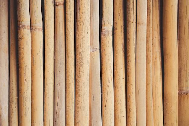 Textura de cerca de prancha de bambu velho para plano de fundo