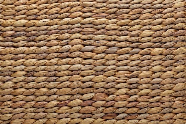 Textura de cesta de vime. fibras naturais.