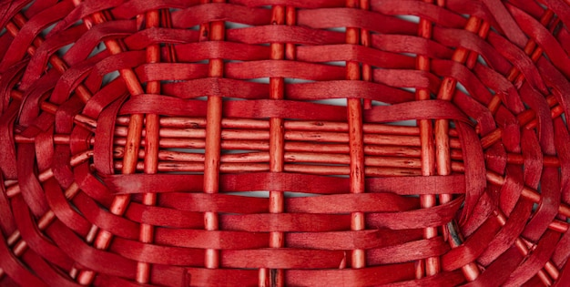 Textura de cesta em tecido vermelho para o fundo