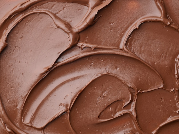 Textura de chocolate derretido, vista de cima