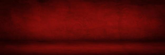 Textura de cimento vermelho escuro e sala de estúdio para produtos de exibição