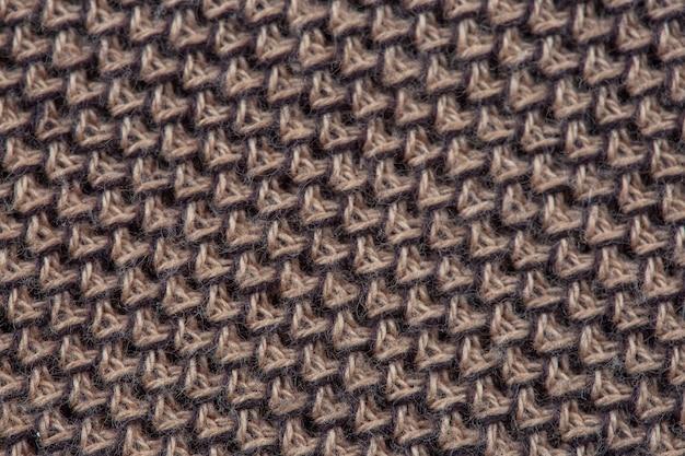 Textura de close-up de um tecido de malha de fábrica