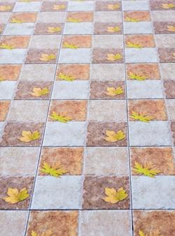 Textura de closeup de telhas de assoalho marrom
