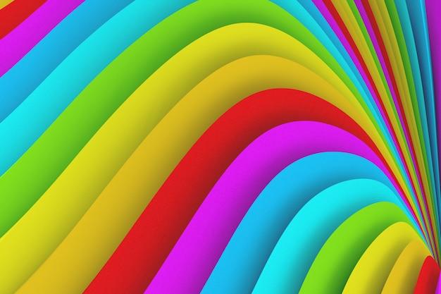 Textura de cor abstrata de muitas listras onduladas de cores diferentes