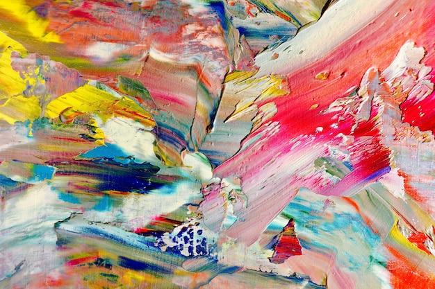 Textura de cor. pintura a óleo desenhada à mão sobre tela