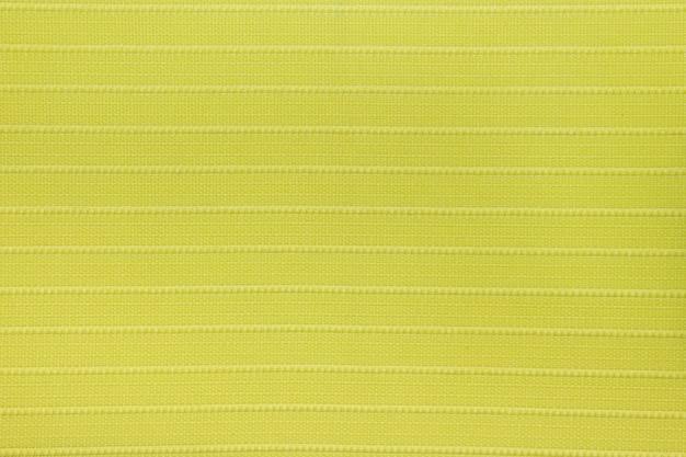Textura de cortina cega de tecido amarelo limão