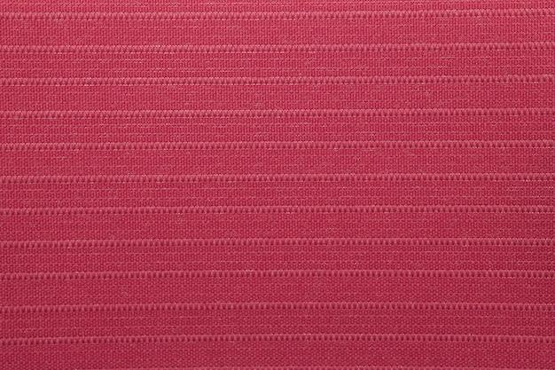 Textura de cortina cega de tecido vermelho carmesim