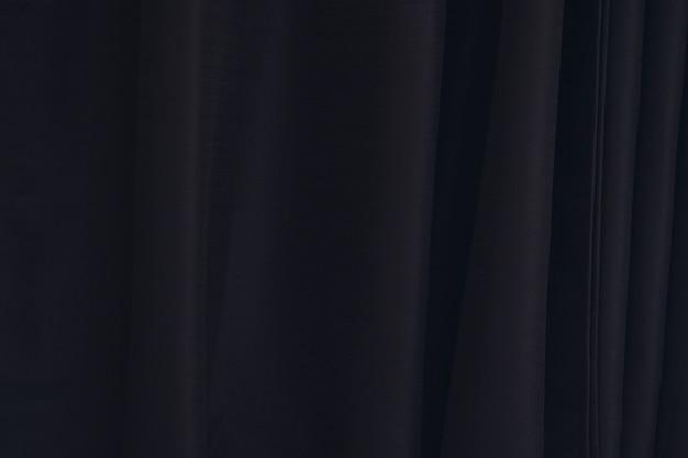 Textura de cortina preta com linhas verticais.