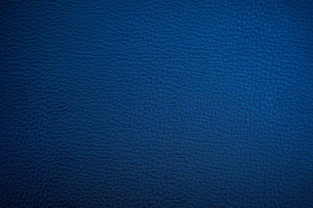 Textura de couro azul escuro pode ser usada como plano de fundo