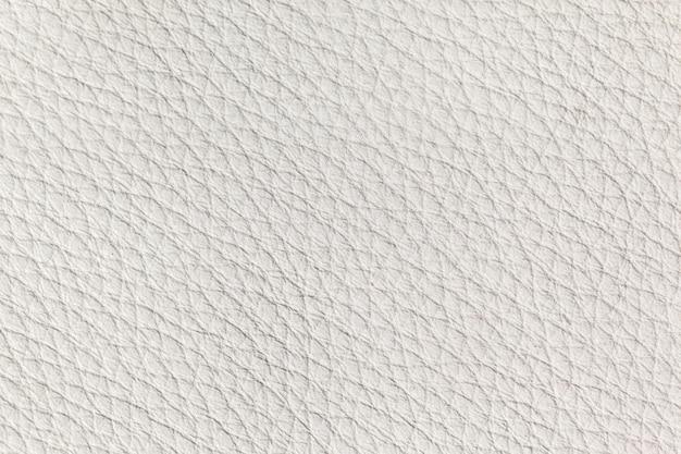 Textura de couro branco close up