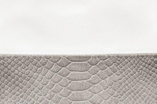 Textura de couro branco e cinza com espaço de cópia