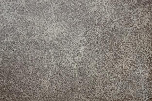 Textura de couro cinza, fundo close up