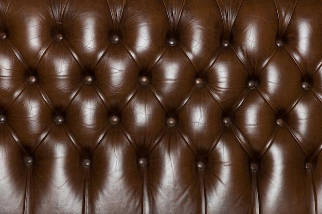 Textura de couro elegante com botões para padrão e fundo
