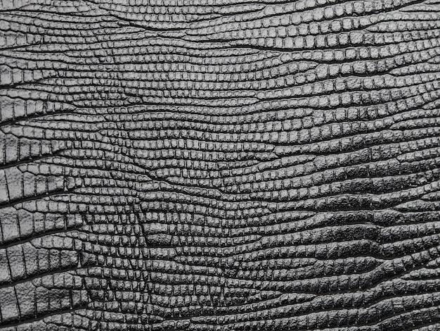 Textura de couro genuíno de pele de cobra preta