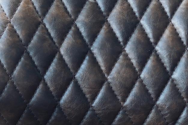 Textura de couro marrom escuro vintage