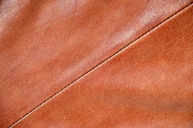 Textura de couro marrom.