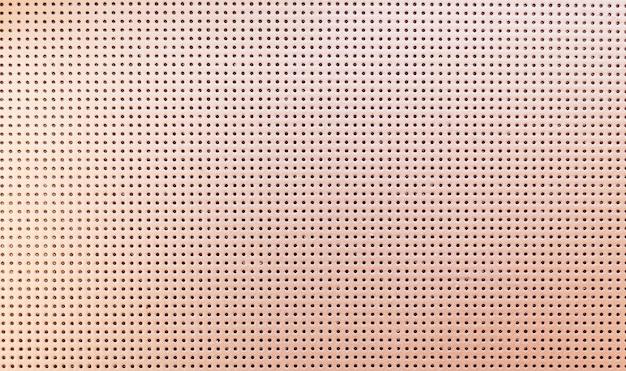 Textura de couro perfurada metálica bege