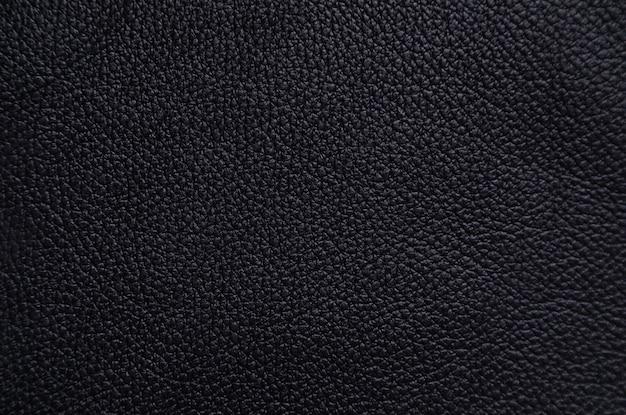 Textura de couro preto brilhante