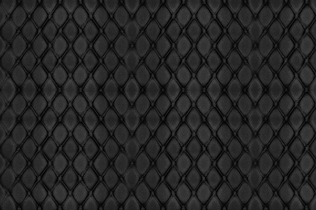 Textura de couro preto e fundo
