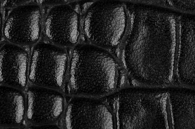 Textura de couro preto e macro de fundo