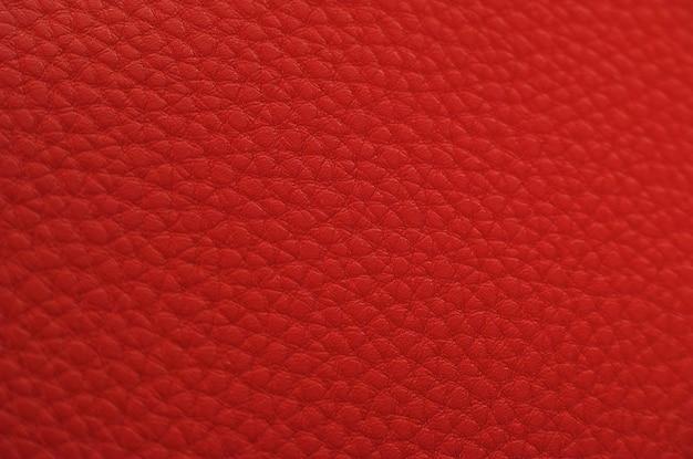 Textura de couro vermelha