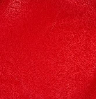 Textura de couro vermelho brilhante natural, full frame