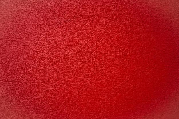 Textura de couro vermelho close-up