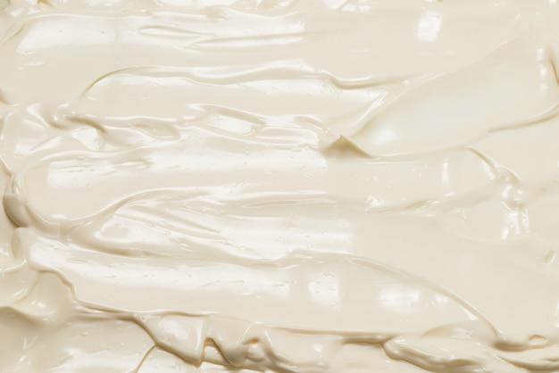 Textura de creme chantilly branca. vista do topo.