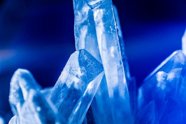 Textura de cristal azul