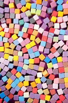 Textura de cubos de espuma quadrada colorida
