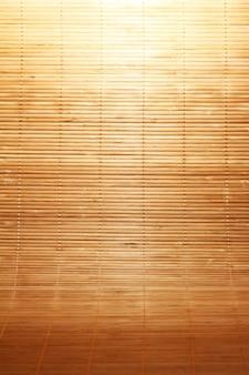 Textura de esteira de madeira