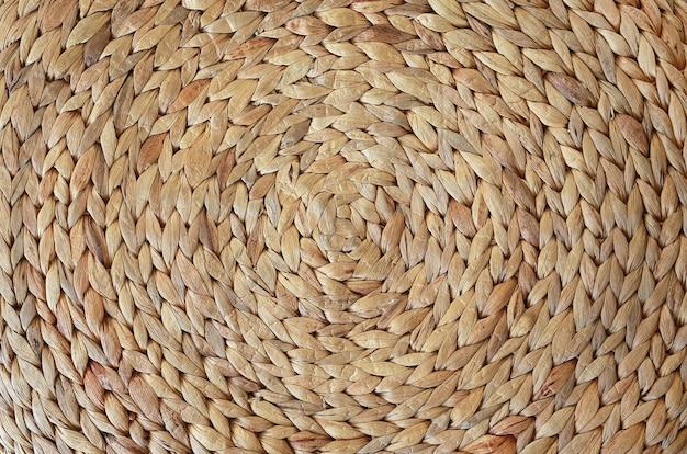 Textura de esteira tecida feita de jacinto de água seca