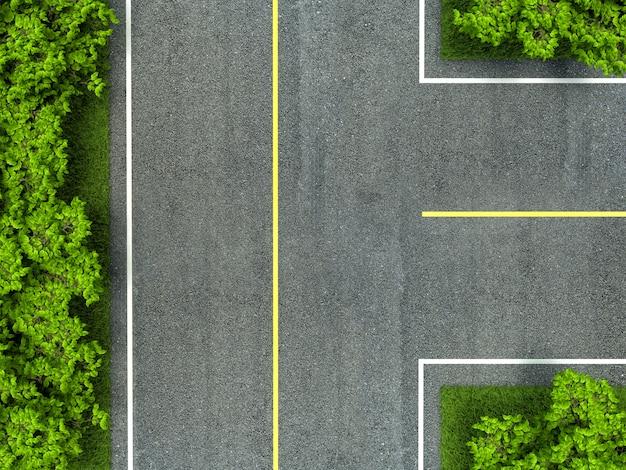 Textura de estrada de asfalto, linha amarela e branca na estrada