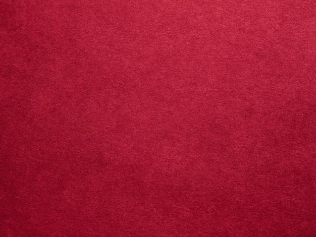 Textura de feltro vermelho borgonha arte abstrata superfície de fibras de tecido colorido