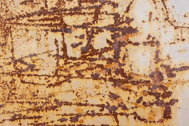Textura de ferrugem como fundo de placa de metal