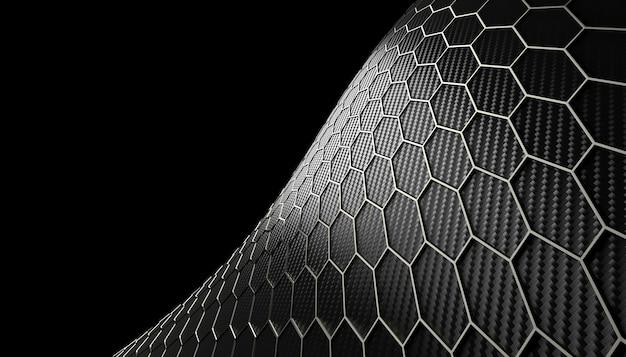 Textura de fibra de carbono hexagonal