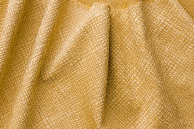 Textura de fibra dourada de close-up