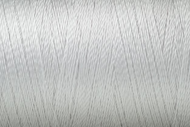 Textura de fio branco cor macro