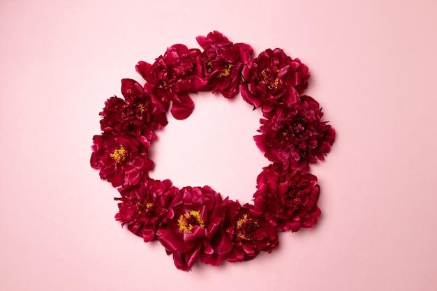 Textura de flor de peônia