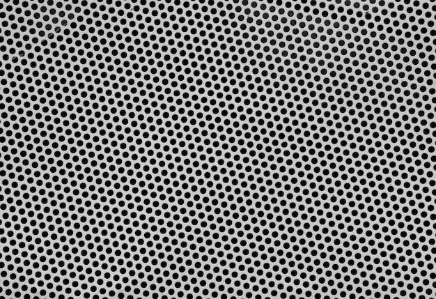 Textura de folha de metal perfurada de aço inoxidável - fundo