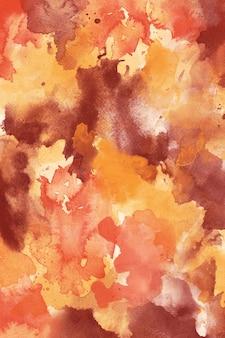 Textura de fundo abstrato aquarela de outono para banners e convites, laranja amarelo ombre