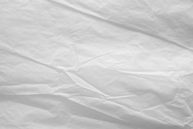 Textura de fundo abstrato de papel amassado branco