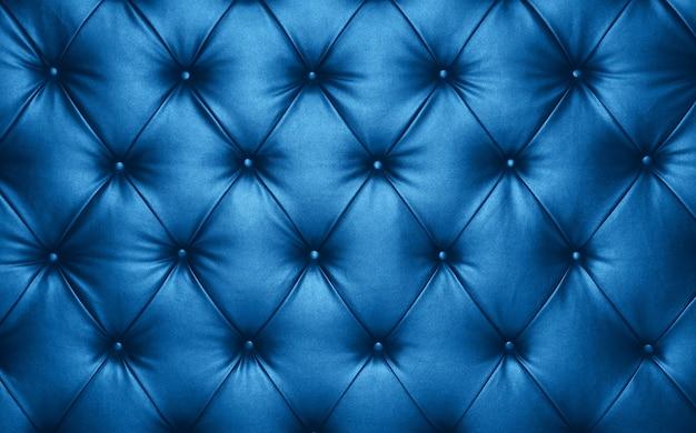 Textura de fundo azul capitone couro