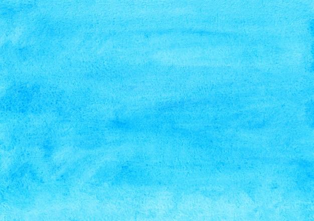 Textura de fundo azul e turquesa da aquarela. pano de fundo abstrato cerúleo em aquarela.