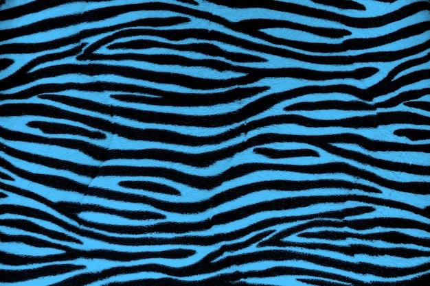 Textura de fundo azul pele de zebra
