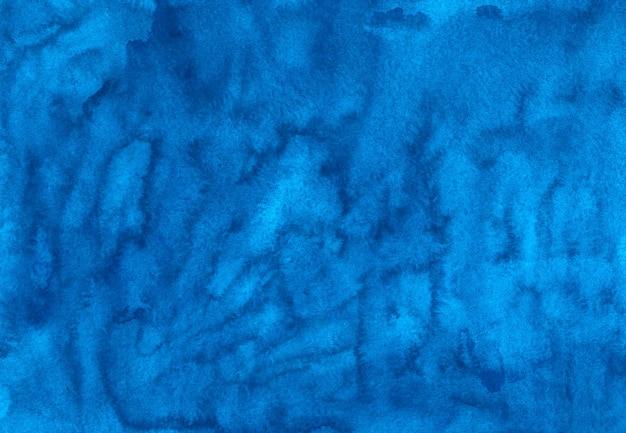 Textura de fundo azul profundo aquarela pintada à mão. pano de fundo abstrato azul aquarelle.