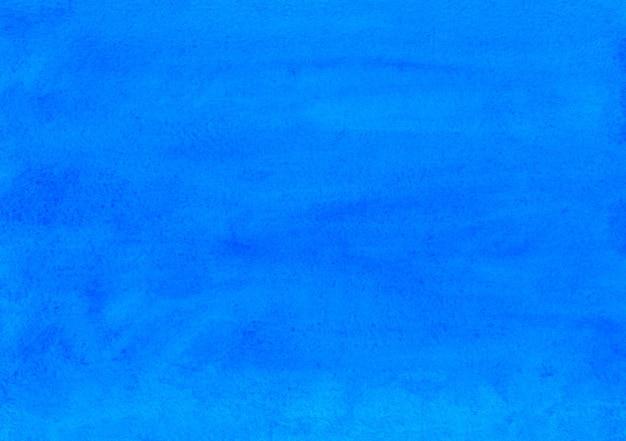 Textura de fundo azul profundo em aquarela. cenário cerúleo abstrato aquarelle. modelo moderno horizontal.