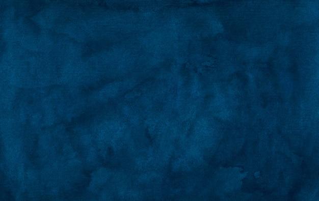 Textura de fundo azul profundo vintage aquarela. cor de água abstrato azul escuro tinta azul fundo aquarela modelo elegante.