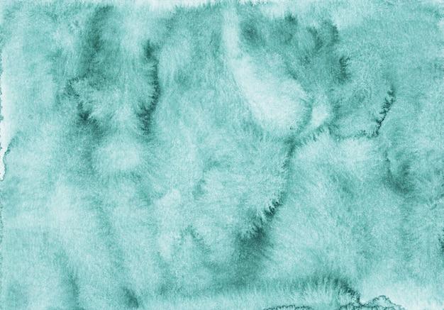Textura de fundo azul verde aquarela. pano de fundo abstrato aquarelle mar verde. pintado à mão